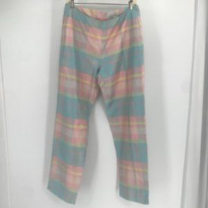 Lilly Pulitzer Pastel Multicolor Silk Pants 12